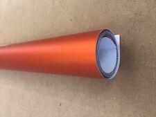 Orange Chrome Satin Matt Vinyl Car Motorbike Vehicle Wrap Air Release A010
