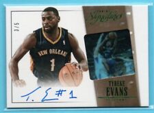 2013-14 Panini Signatures GREEN Tyreke Evans #/5 SP ON-CARD AUTO - PELICANS