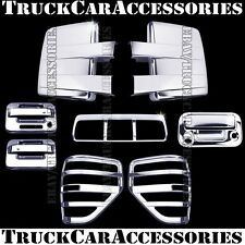For FORD F150 2009-2014 Chrome Covers Mirrors+Doors+Brake+Tailgate+Tail Lights