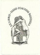 OSWIN VOLKAMER: erotisches Exlibris für Hans-Joachim Bandilla, 1982