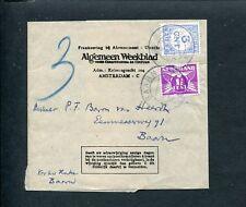 1931 1½ ct DUIF krantenbandje-adreswikkel Alg.Weekblad A'dam - BAARN; port P 69