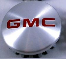 "GMC Brushed Aluminum wheel Center Caps 22837060 83mm 3.25"" Sierra Yukon Denali"
