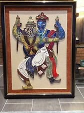 Rare Mid Century Ceramic Tile Mural - 2 Warriors - Chinese Russian - Irina Lorin