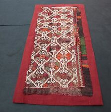 Rare antique fragment konya cicim,Wall hanging,Tribal cicim kilim...