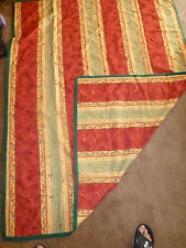 """Handmade  Hand Tied Quilt/Blanket   52 x 68""""  Red, Yellow, Green"""