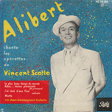 "7"" FRENCH EP 45 TOURS ALIBERT ""Le Plus Beau Tango Du Monde +3"" 1957"