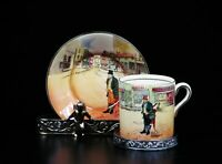 Royal Doulton Dickens Ware England Demitasse Cup & Saucer Bill Sykes C 1930.