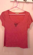 Red xcit u.s.s. T-shirt women's size L