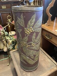 Antique Aesthetic Movement Embossed Stick Stand