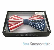 USA Flag America Flag Design Bow Tie Neck wear Unisex