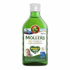 TRAN Fish oil MOLLERS MY FIRST 250 ml Tran MOLLERS MÓJ PIERWSZY 250ml 1/11/2021