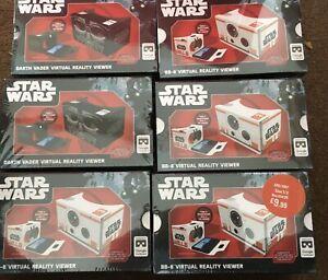 6 Star Wars Virtual Reality Viewers  BB8 & Darth Vader Job Lot