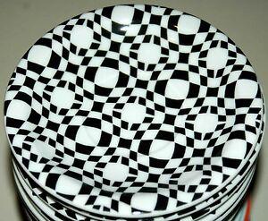CURVES Bopla Porzellan 13cm Espressoteller Serie Black & White