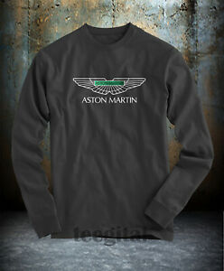 Aston Martin Car Logo T Shirt Long Sleeve