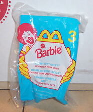 1998 Mcdonalds Happy Meal Toy Barbie #3 Eatn' Fun Kelly MIP