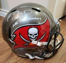 Tom Brady Autographed Signed Full Size Replica Speed Helmet w/inscrip COA