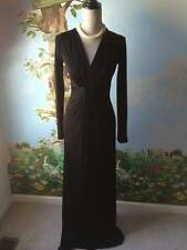 DIANE VON FURSTENBERG Womens Satin Evening Long Sleeve Dress Size 2 New