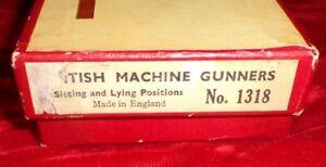 Vintage Britains Set No. 1318 British Machine Gunners in Original Box - 6 Figure