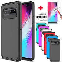 For Samsung Galaxy S10 5G Shockproof Armor Case Cover With Full Screen Protector