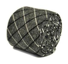 Frederick Thomas grey/gray, black & white check 100% cotton tie FT2154 RRP£19.99