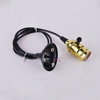 Vintage Industrial Lamp Light Bulb Holder Cord Retro Edison E27 Screw Fitting