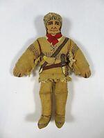 Davy Crockett Hallmark Cloth Doll August 1979 Historic Frontiersman 7 Inches #2
