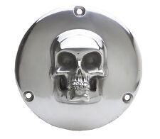 Skull Derby Cover for Harley-Davidson 1970 - 1999 Big Twin 3 Hole Polished