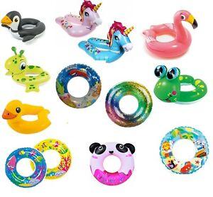 Kids Inflatable Swim Ring Swimming Aid Holiday Summer Pool Beach Fun 3-6 Years