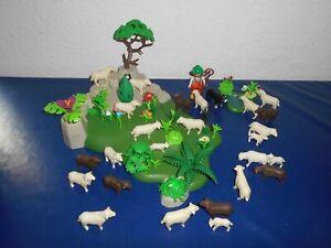 Playmobil Schäfer mit 25 Schafe und Blumenwiese