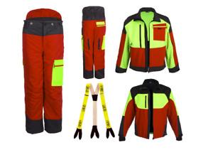Forstbekleidung Schnittschutzhose oder Forst Softshelljacke FOREST JACK RED