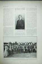1903 Imprimé Mr Hamilton Lee ~ Allemand Hussard & Uhlan Régiments