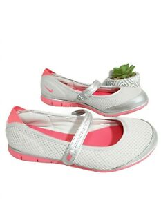 Nike Gray/Pink Women's  Mary Jane Sneaker Shoes Size 6