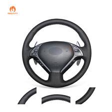 Black PU Leather Steering Wheel Cover for Infiniti G35 G37 QX50 EX35 EX37 Q40