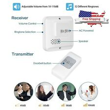 Ring Wireless Doorbell 1000 ft Long Range Door Chime Kit Waterproof