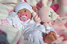 PJs❤️ BERENGUER LA NEWBORN ❤ BABY GIRL DOLL + DUMMY MANY EXTRAS FOR REBORN /PLAY