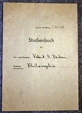 1948 HEIDELBERG UNIVERSITY Student Book GERMANY German COLLEGE Baden AMERICAN