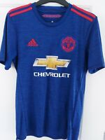 MANCHESTER UNITED 2016/2017 THIRD FOOTBALL SHIRT JERSEY TOP ADIDAS SIZE S ADULT