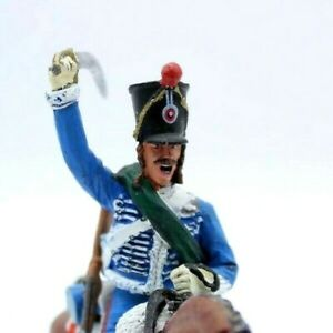 Mounted Toy soldier in Uniform with Artillery Trooper French Hussars 1813
