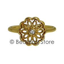 NEW Pandora Golden Radiance Filigree 14k Gold Diamond Ring RRP$699 Sz 57 150168D