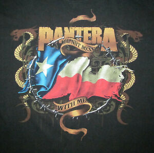 Pantera Don't Mess With Me Men's L Large circa 2007 black QHW cotton T shirt