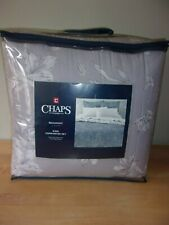 Chaps Home Beaumont Gray Floral 3PC King Comforter Set   NIP