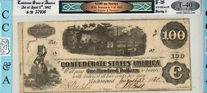 2-1862 T-40 $100 Confederate Montgomery, Alabama Endorsed ☆☆ Consec. Serial #S