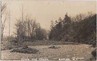 New York NY Postcard c1920 NAPLES Real Photo RPPC Down The Creek
