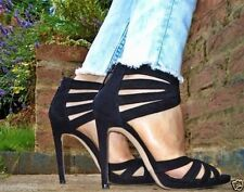 Zara Patternless Party Strappy, Ankle Straps Heels for Women