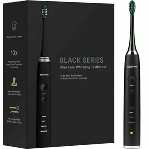 Aquasonic 881413 Ultrasonic Toothbrush - Black