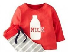 Baby Boys New ex Mini Boden Milk Long Sleeve T-shirt Top - Age 0-3m - Top Only