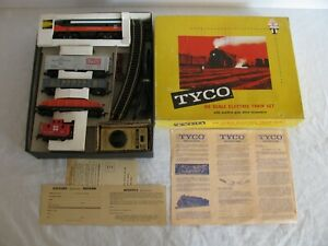 Tyco Mantua HO Shippers Express New Haven F9 4-Car Freight Set #T6104 EX