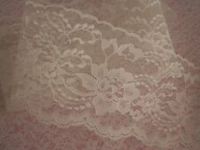 Lace Trim, 4 In Wide, Assorted Colors, 5 YARDS, Flat Lace, Raschel Lace