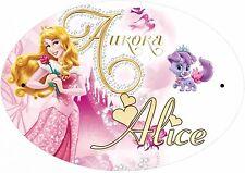 plaque de porte chambre princesse personnalisée inscription au choix réf 250