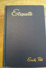Emily post etiquette Blue Book of etiquette 1940